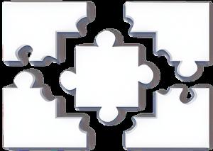 White puzzle piece decoration